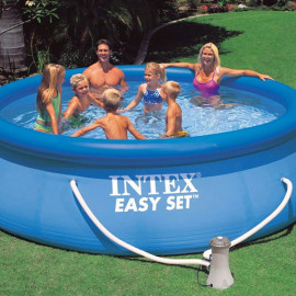 Piscina fuori terra Intex easy set blue rotonda