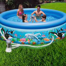 Piscina fuori terra Intex easy set Oceano rotonda
