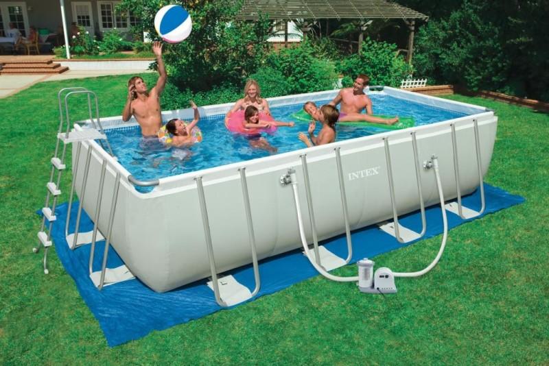 28352 piscina intex rettangolare ultra frame. Black Bedroom Furniture Sets. Home Design Ideas