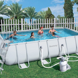 Kit piscina rettangolare steel pro frame bestway