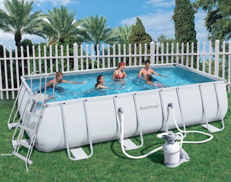 56256 piscina bestway steel frame pro 549x247x122 cm for Piscine bestway steel pro
