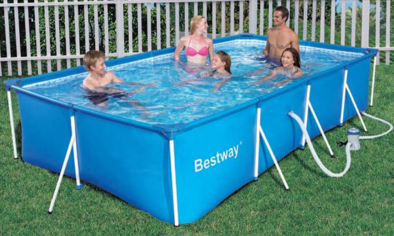 56082 piscina bestway rettangolare cm 400x211x81 for Accessori piscine fuori terra bestway