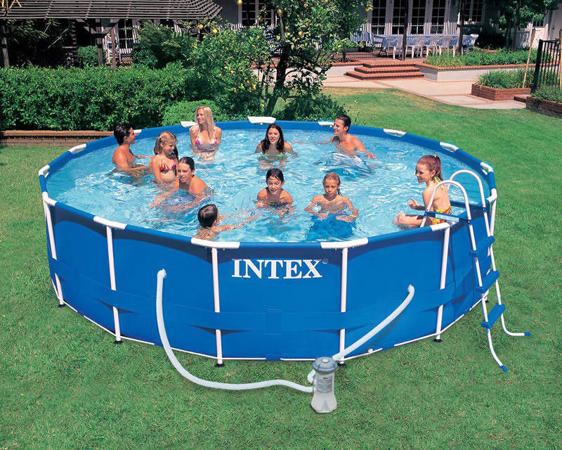 56946 piscina intex frame rotonda cm 457x122 offerte for Piscina intex rotonda